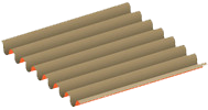 Single wall corrugated board: rigid and resistant
